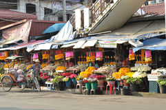 рынок цветка Стоковые Изображения