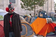 替换伦敦占用抗议者股票 图库摄影