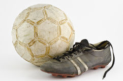 ποδόσφαιρο παλαιό Στοκ Εικόνες