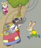 野兔发誓狼 库存照片