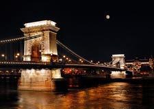 布达佩斯夜生活 免版税库存照片