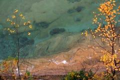 湖海岸线主管 免版税库存照片