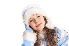 девичий новый год снежка Стоковое Изображение RF