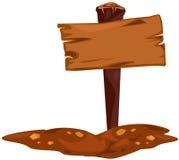 пустой знак деревянный Стоковая Фотография RF