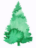 设计结构树水彩 免版税库存图片