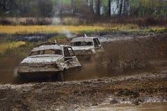 автомобиль с участвовать в гонке дорога Стоковое Изображение