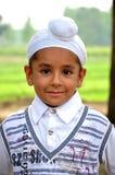 男孩逗人喜爱的锡克教徒 库存照片