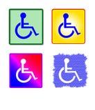 收集五颜六色的残疾符号 库存照片