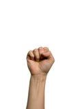 женщина кулачка Стоковое Изображение
