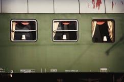 старая фура поезда Стоковая Фотография
