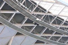 建筑框架内部钢结构 免版税图库摄影