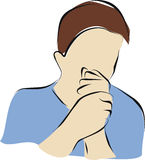 咳嗽 免版税库存照片