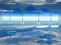 παλάτι αέρα Στοκ εικόνα με δικαίωμα ελεύθερης χρήσης