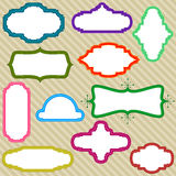 рамки цвета Стоковые Изображения
