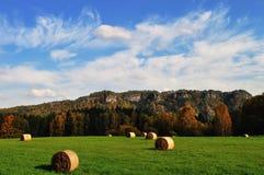 农村秋天捷克横向的共和国 免版税库存图片