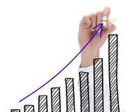 рост диаграммы Стоковое Изображение RF