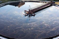 大排水设备来回沉积作用 库存照片
