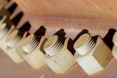 βιομηχανική γραμμή μπουλονιών Στοκ εικόνες με δικαίωμα ελεύθερης χρήσης