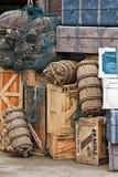 сбор винограда багажа Стоковое Фото