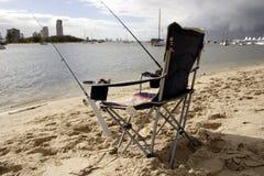 椅子捕鱼 库存照片