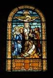 天主教教会视窗 免版税库存图片