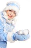 голубой девичий снежок Стоковое фото RF