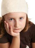 女孩哀伤的一点 图库摄影