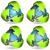 σφαίρα βελών πράσινη Στοκ Εικόνα