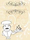 主厨菜单 免版税图库摄影