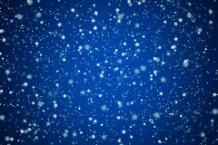 相当与星形和光的蓝色夜空 免版税库存照片