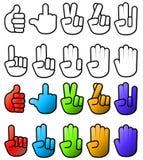 收集多种手势符号 免版税库存照片