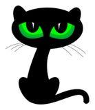 черный кот Стоковые Фотографии RF