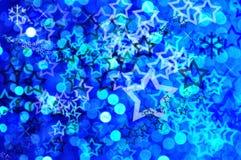 μπλε εορταστικός ανασκό& Στοκ εικόνες με δικαίωμα ελεύθερης χρήσης