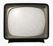 噪声老减速火箭的电视 免版税库存照片