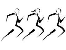 τρέξιμο ανθρώπων Στοκ Φωτογραφίες