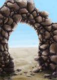 弧石头 免版税库存照片