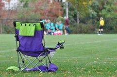 трон футбола мамы Стоковое Изображение