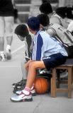 运动的男孩 库存图片