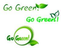 πηγαίνετε πράσινα σύμβολα Στοκ Εικόνες