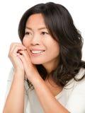 成熟中间变老的亚裔妇女 图库摄影