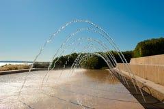 风景的喷泉 免版税库存照片