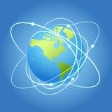 地球模型卫星 库存照片