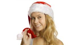 圣诞老人纵向 免版税库存照片