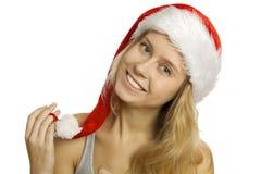 圣诞老人纵向 免版税库存图片