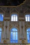 内部主要宫殿楼梯冬天 库存图片