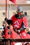 骑士骑马 免版税库存图片