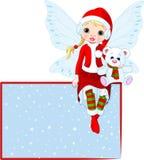 看板卡圣诞节神仙位置 图库摄影