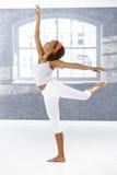 跳芭蕾舞者女孩执行 免版税库存图片