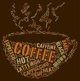 咖啡杯字 图库摄影
