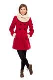 красивейшая женщина зимы пальто Стоковые Изображения RF